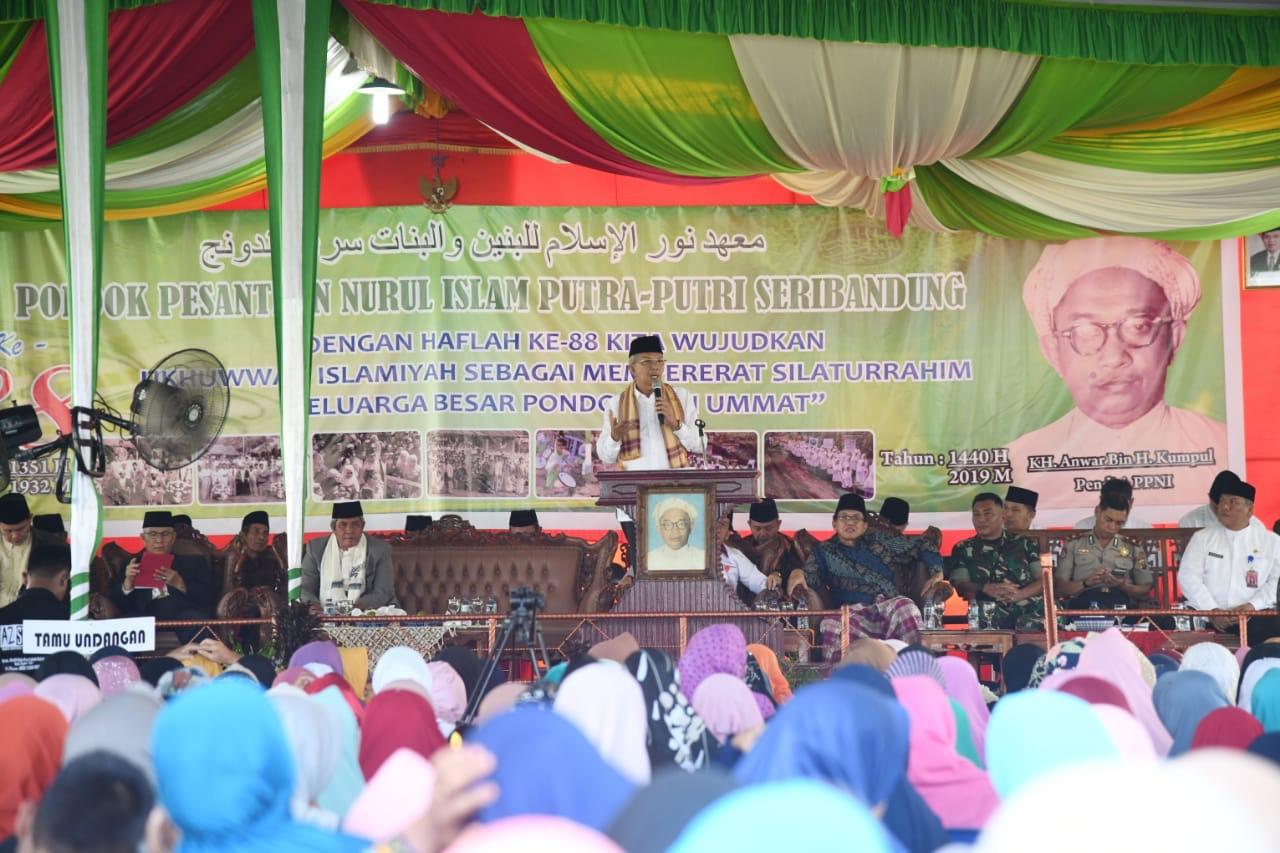 Hadiri Haflah Ponpes Nurul Islam Tanjung Batu, Wagub Paparkan Program Perioritas Pemprov. Sumsel